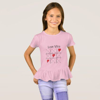 Fun Happy Valentines Day Love Wins Hearts & Arrows T-Shirt - valentines day gifts gift idea diy customize special couple love