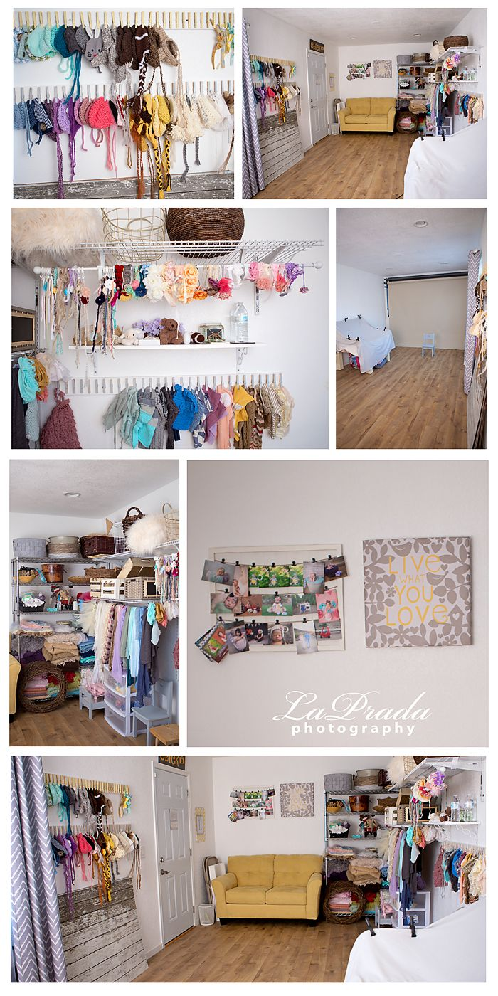 Photography Studio, Newborn prop storage, Newborn photography studio, small photography studio, home photography studio #lapradaphotography