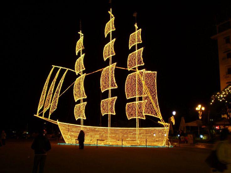 The nostalgic Greek Christmas Boat decoration