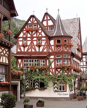 The small town of Bacharach in Germany.