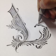 ✍ Sensual Calligraphy Scripts ✍ initials, typography styles and calligraphic art - Luis Garcia