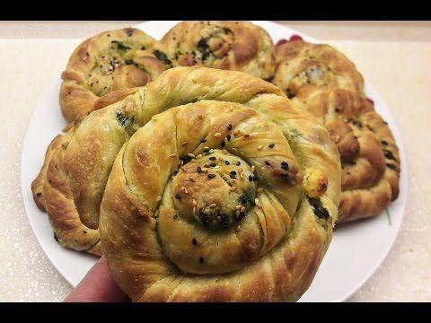El Açması Ispanaklı Börek- Oklava Kullanmadan Kolay Açma Börek Tarifi- Ev Lezzetleri - YouTube