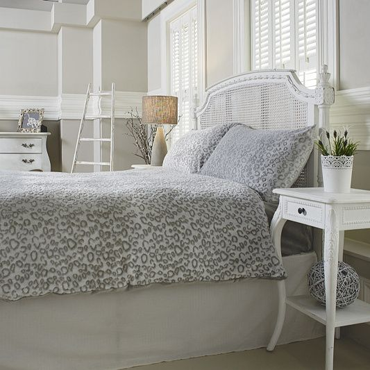 Cozee Home Leopard Embossed Angel Plush 4 Piece Duvet Set order online at QVCUK.com