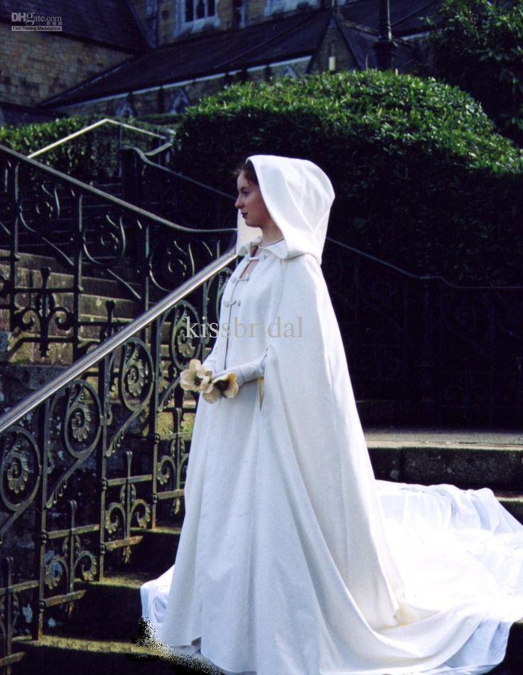 2014 Winter Wedding Cloak Cape Custom Made Hooded With