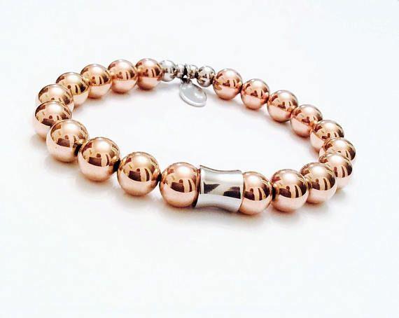 NC Jewelry Rose gold Hematite Bracelet  Stunning  Glam
