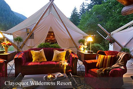 Luxurious outdoor lounge in the heart of the Clayoquot Biosphere.  www.wildretreat.com