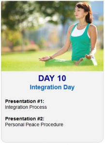 It's Day 10 of the 2013 Tapping World Summit    Integration Day    Session #1:  Integration Process    Session #2:  Personal Peace Procedure    Register Here