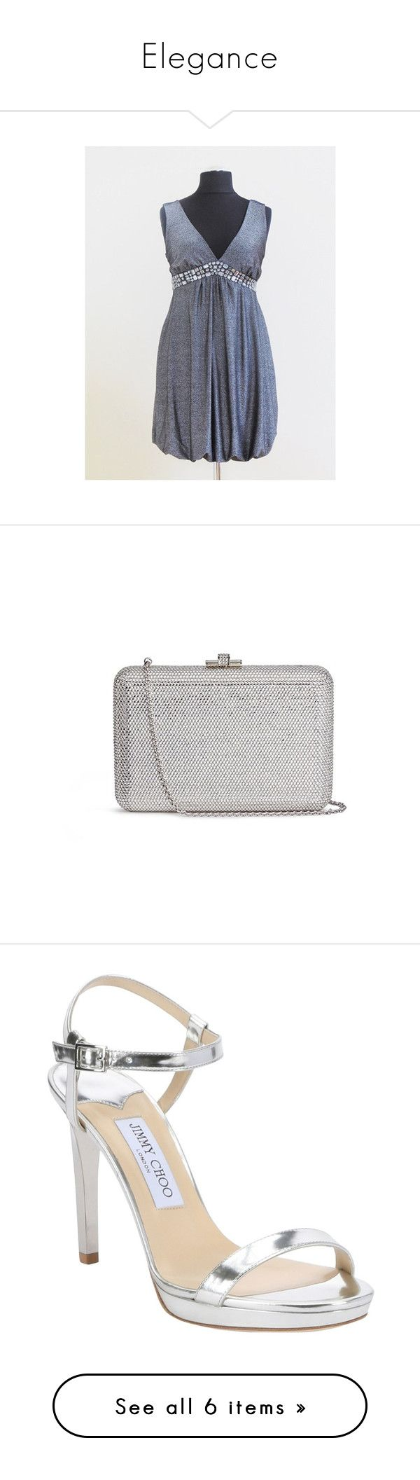 Elegance by styledonna on Polyvore featuring women's fashion, bags, handbags, clutches, metallic, crystal handbag, judith leiber purse, white handbags, evening clutches and crystal purse