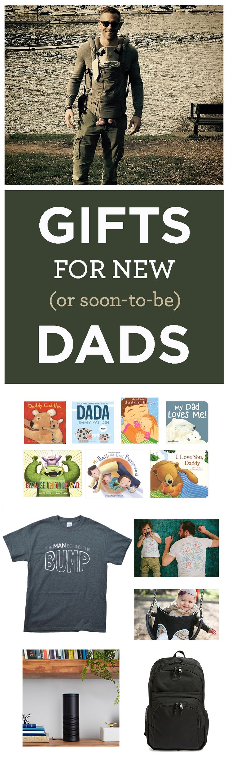 Amazing list of gift ideas to give a new dad (or soon-to-be-dad). Everything from gifts from a wife to a first time dad to just plain funny.