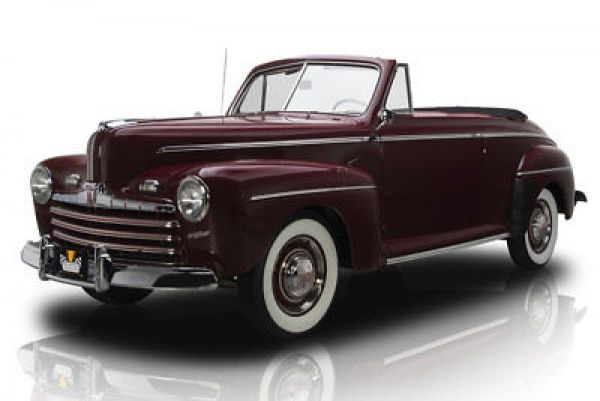 1946 Ford Other Convertible 1946 Ford Super Deluxe Convertible 4386 Miles Dynamic Maroon Convertible 239 Ci Ford Convertible Muscle Cars For Sale Ford