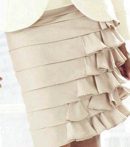 Ruffle Skirt alteration. This could really be done to any pencil skirt pattern.