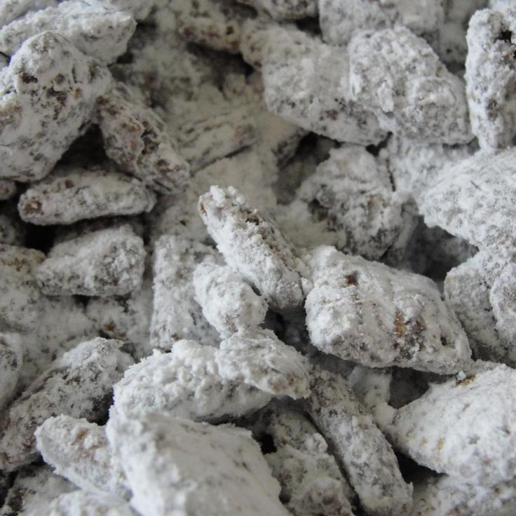 A sweet treat that I always made for my kids and now my granddaughter loves it too! I usually make it with Crispix cereal, but any flavor of Chex can be used instead. Called Puppy Chow because it resembles the slightly powdery look of real puppy chow dog food.