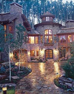 Mountain home...when I win the lotto, this will be built somewhere near Lake Tahoe or Near Yosemite NP.