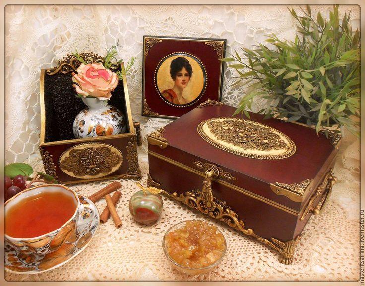 """Купить комплект   """"Флер де лис...( королевская лилия)"""" - бордовый, подарок, ручная работа"""