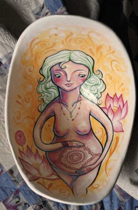 Belly Bowl by Crystal Driedger. This sample cast is for sale.