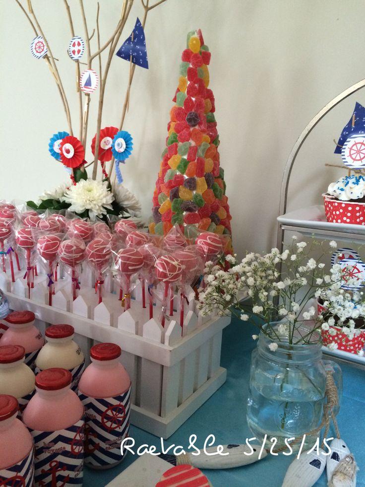 Cake Pop #nautica #desserttable #birthday #party #raetable #raecake