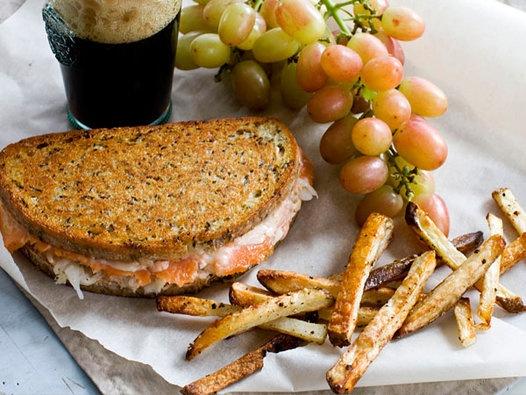 Smoked Salmon Reuben Panini | Food | Pinterest