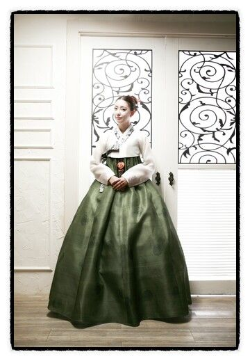 White and Green Hanbok