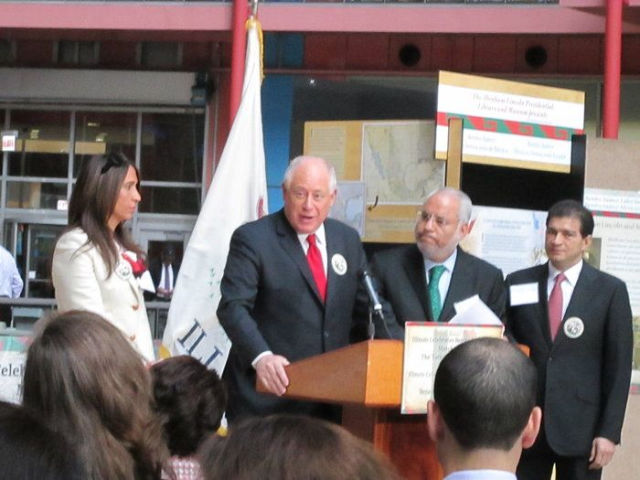 Illinois Governor Pat Quinn by Gardenia Hung-Wittler on Capture My Chicago // Illinois Governor Pat Quinn Speaks on Behalf of the Benemerito For Benito Ju..rez, Father of the Americas