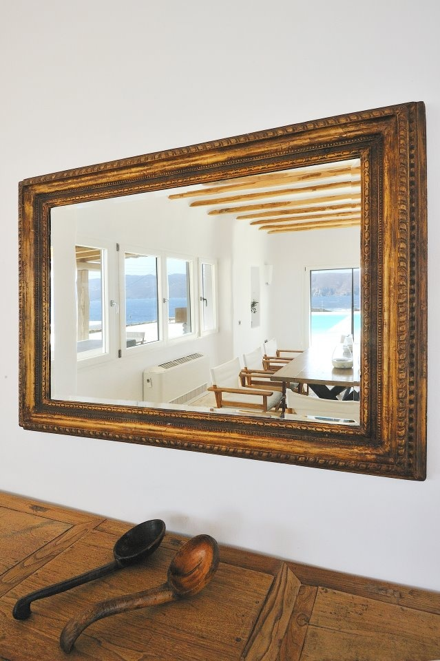Interior detail of luxury villa Aesara in Mykonos, Greece
