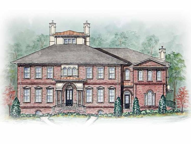 Eplans italianate house plan two master suites 5713 for Italianate house plans