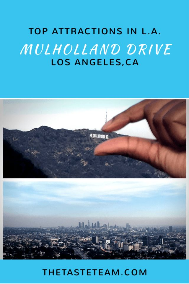 Mulholland Drive View and Hollywood Sign