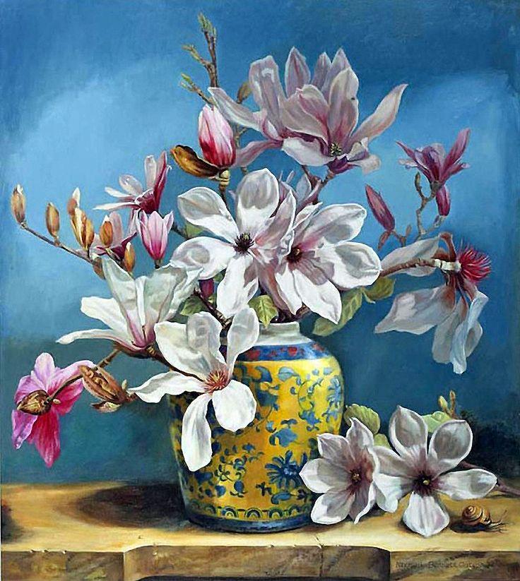 Michelle Bennett Oates  Цветочный натюрморт. Обсуждение на LiveInternet - Российский Сервис Онлайн-Дневников