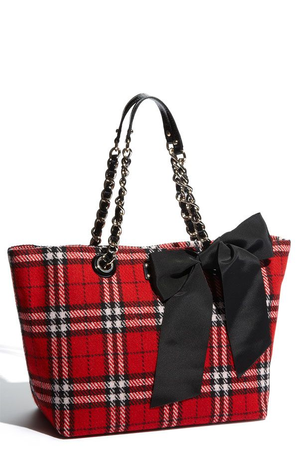 kate spade new york 'fireside plaid - small coal' shoulder bag:  Exactly what I want to do for a bag