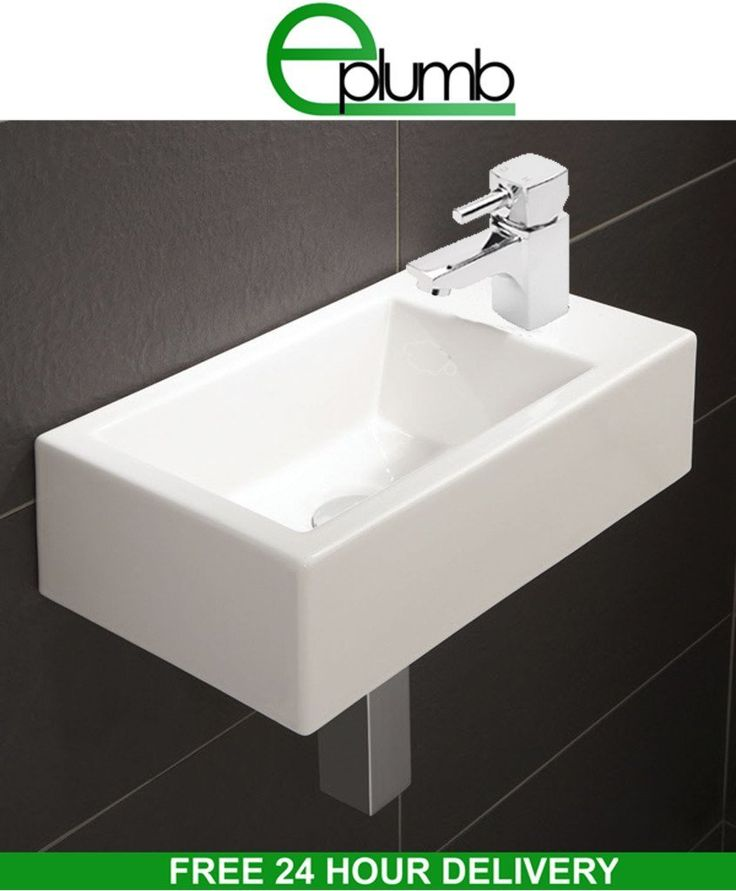Small Cloakroom Sink : Small Compact Square Rectangle Cloakroom Basin Bathroom Sink Wall Hung ...