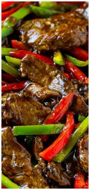 Pepper Steak Stir Fry ~ Eine schnelle und einfache Mahlzeit, die noch besser schmeckt als …