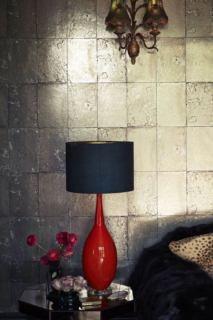 Walls glow with light with this magnificent ANTIQUE MIRROR Wallpaper @BRAVE BOUTQIUE