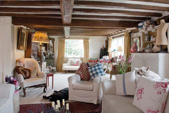 White covers over old seats, kilim style old rug. carpet over coir flooring?