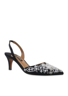 Kay Unger New York Women's Fairlee Slingback Pump - Black - 6.5M