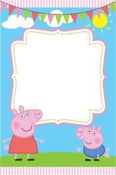 free peppa pig invitations to print - Google Search