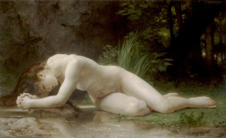 윌리앙 아돌프 부그로(Adolphe William Bouguereau)의 비블리스(Biblis) / 1884년 이 작품속의 여인은 비블리스다. 비블리스는 아폴론의 아들 밀레토스와 강의 신의 딸 카이네 사이에서 오빠 카우소스와 함께 쌍둥이로 태어났다. 그러나 그녀는 자신의 오빠인 카우소스를 남자로 좋아하게 되었고, 동생으로부터 사랑의 편지를 받은 카우소스는 놀라 집을 떠나버린다. 카우소스를 찾아 온 세상을 떠돌던 그녀는 탈진해 쓰러지고, 그녀의 눈에서 흘러내리는 눈물을 본 요정들은 그녀를 마르지 않는 샘이 되게 하였다. 이 샘이 바로 비블리스 샘이다. 가엾은 사랑의 끝에 죽음을 맞게 된 비블리스의 애처롭게 기도하는 자세와 하얀 몸은 그녀의 슬프고 비극적인 사랑을 더욱 더 강조하고 있다.