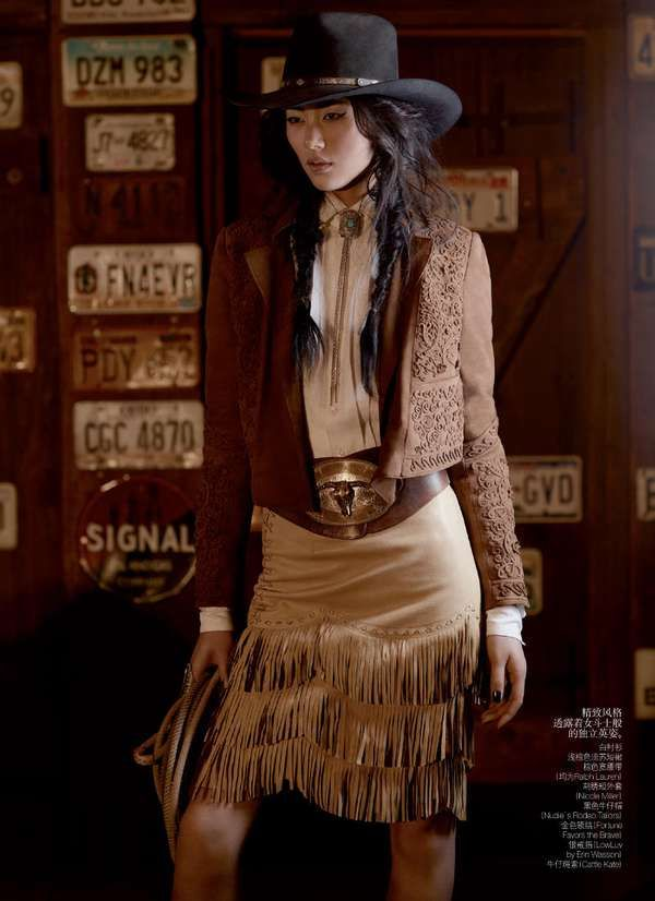 Vogue, China. Far East Meets The Wild West