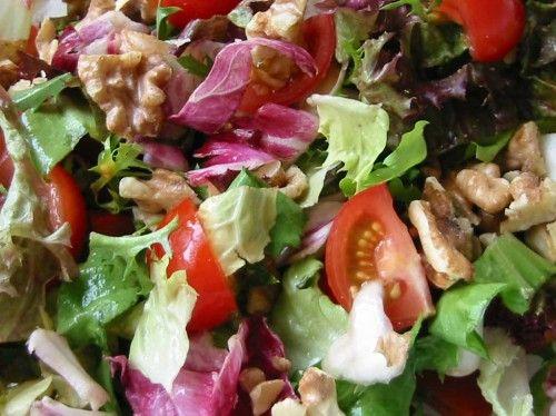 salade met walnoten en frambozen dressing