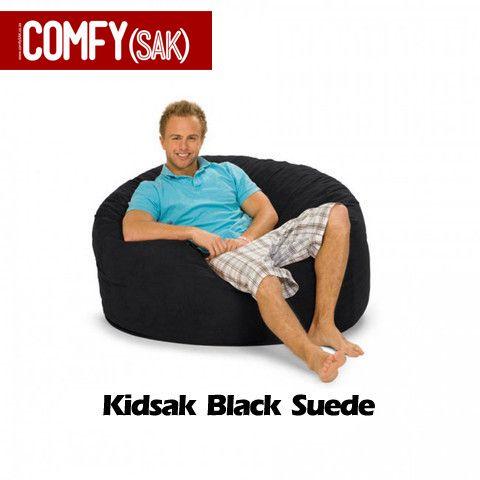 Kidsak Black Suede Comfysak