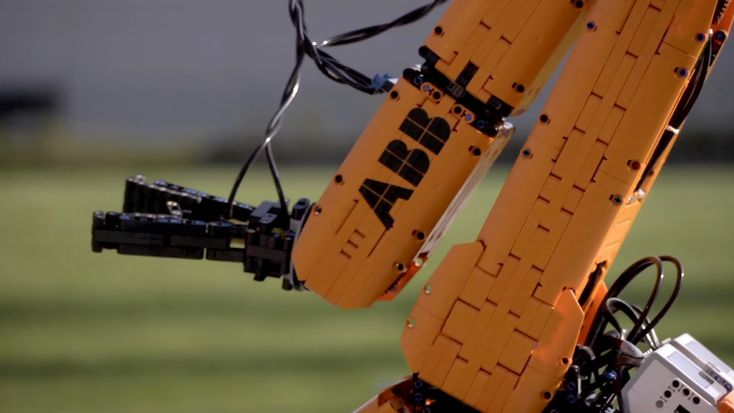 It took eight months to build using only spare time, but a fully programmable, near life-size ABB robot made out of LEGO bricks is a spectacular thing to behold.