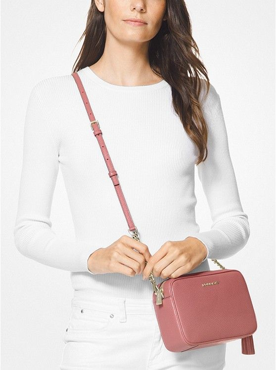 91d3b0122 Ginny Medium Pebbled Leather Crossbody_preview2. Ginny Medium Pebbled  Leather Crossbody_preview2 Michael Kors, Leather Crossbody ...