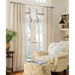 Roman Shade On French Door Window Treatments French