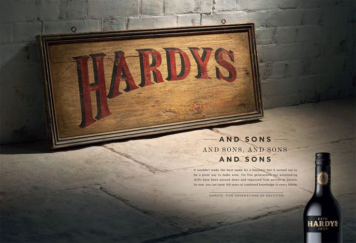 Read more: https://www.luerzersarchive.com/en/magazine/print-detail/hardys-wine-53959.html Hardys Wine Campaign for the wine label Hardys, whose heritage dates back to famous South Australian winemaker Thomas Hardy Tags: Jamie Buckingham,Peter Lippmann,McCann Central,Martin Parkes,Tim Jarvis Jarvis,Vince McSweeney,Hardys Wine,Doug Laird