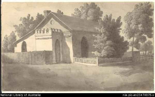 School House, Longford Tasmania, by John Glover, 1790-1868