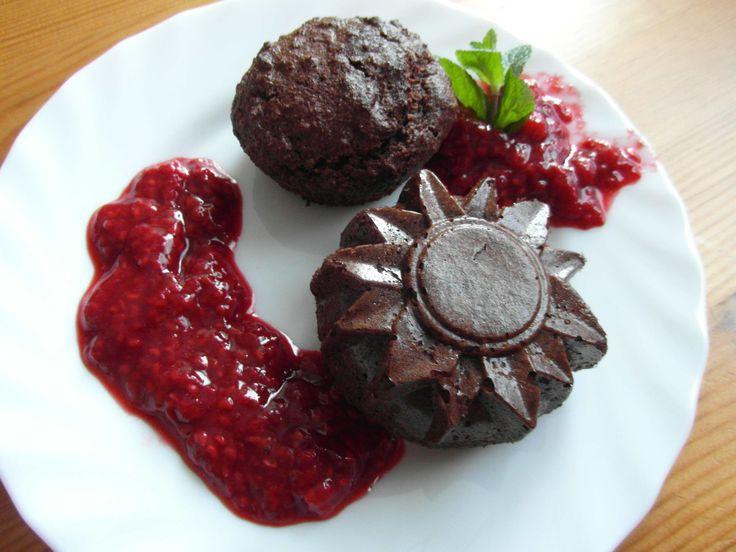 Muffiny s malinovým krémem