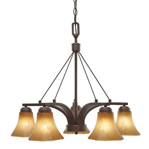 185 Ammon 5 Light 27 Rubbed Bronze Nook Chandelier At Menards Dining Room