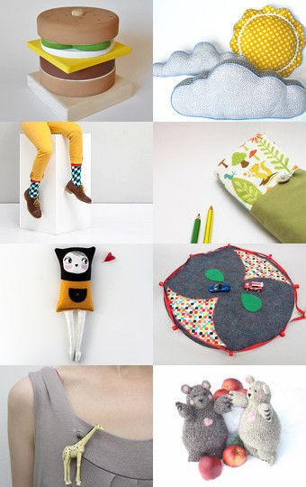 Inspiration: Toys by Mammabook on Etsy--Pinned with TreasuryPin.com