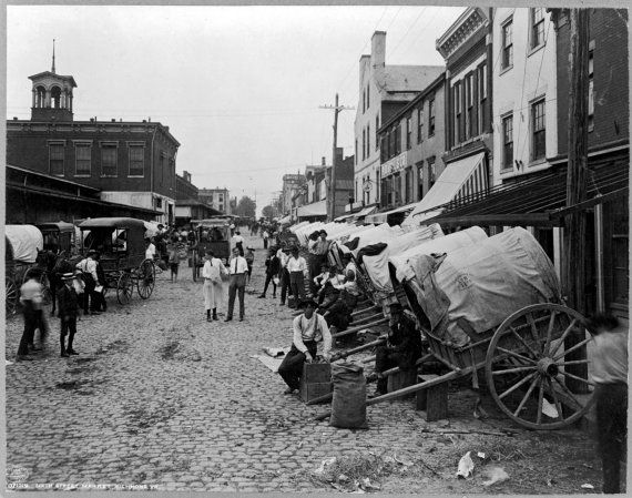Sixth Street Market- Richmond, Virginia in 1908 #Richmond #Virginia