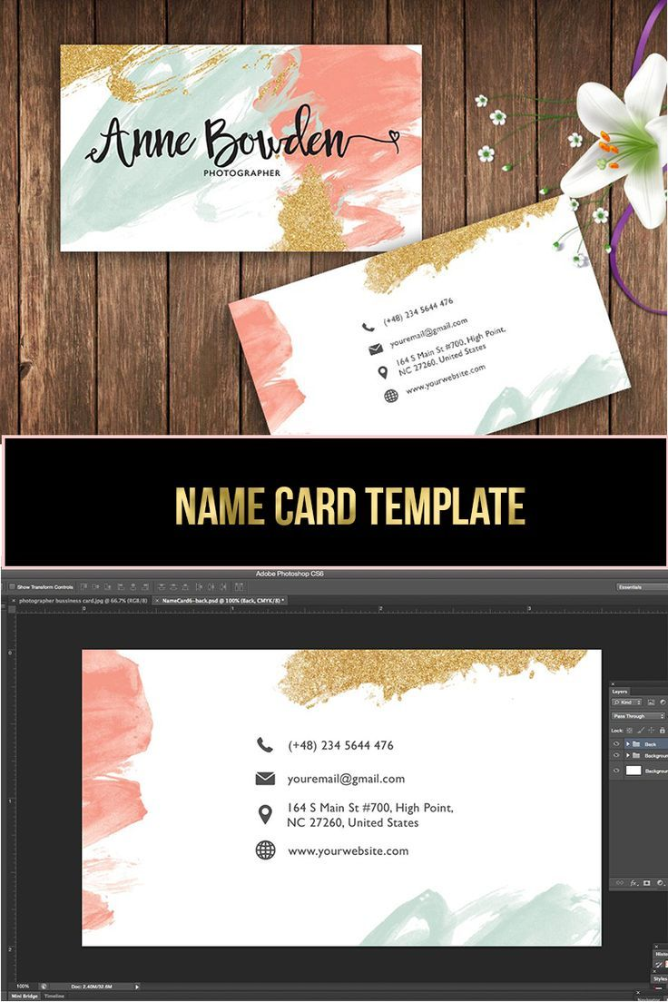Name Card Template Etsy Business Cards Modern Business Cards Name Cards
