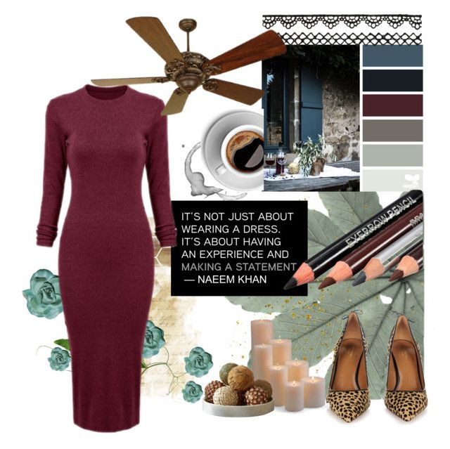 So Haute! 🔥 by vintage12murage on Polyvore #Polyvore #dress #cheetahprint #candle #lace #coffee #rose #lovely #quote #burgundy #warm