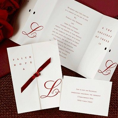 Greatest Of These Is Love Christian Wedding Invitation Collection.